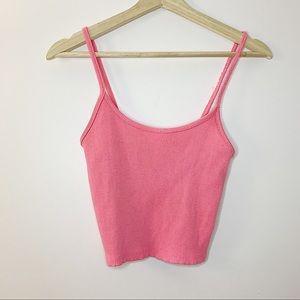 3/20💫 AMERICAN EAGLE   Pink crop tank top